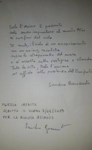 Manoscritto Boccardi